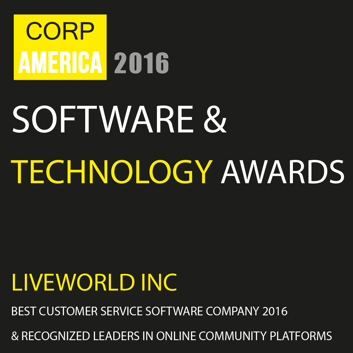 LiveWorld Software & Technology Award
