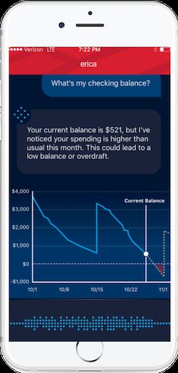 Erica chatbot AI financial services