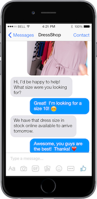 LiveWorld Messenger conversation management software - retail
