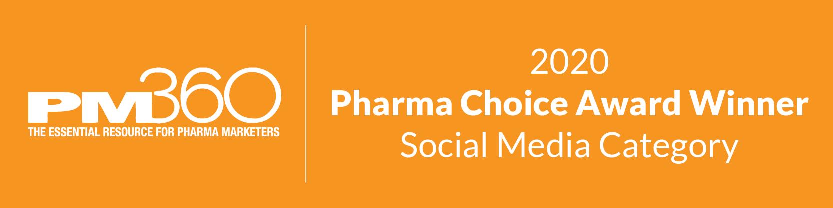 PM360 2020 Pharma Choice Award LiveWorld Social Media