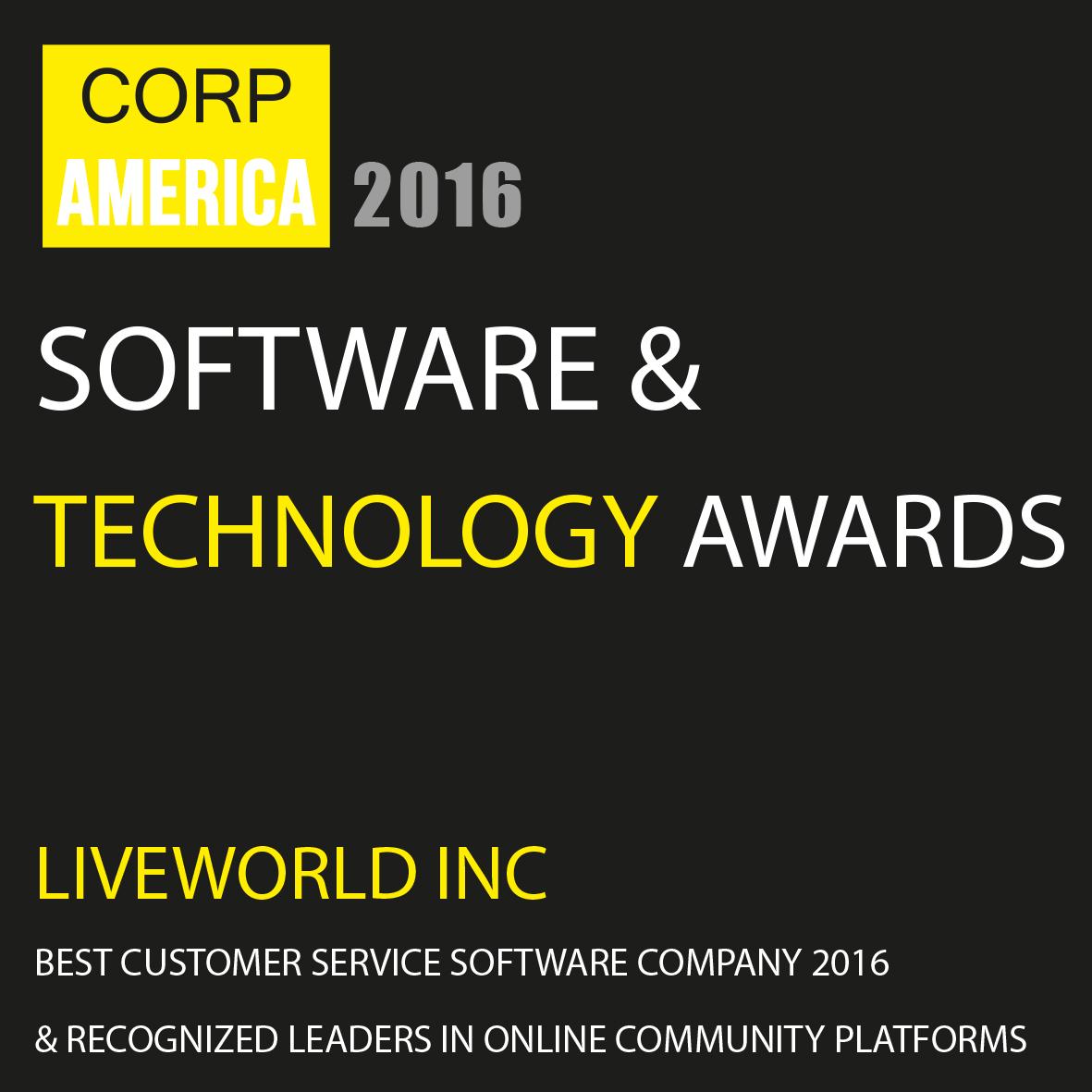 LiveWorld Software & Technology Award